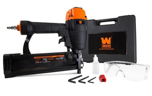 WEN 16 Gauge Pneumatic Finish Nailer with Carrying Case, 61764