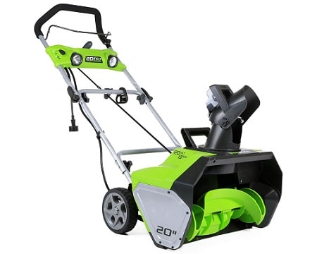Greenworks 13 Amp Corded Snow Thrower, 2600502